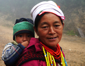 This mother and child get food every day thanks to Partners. I like to know that. We do make a difference.