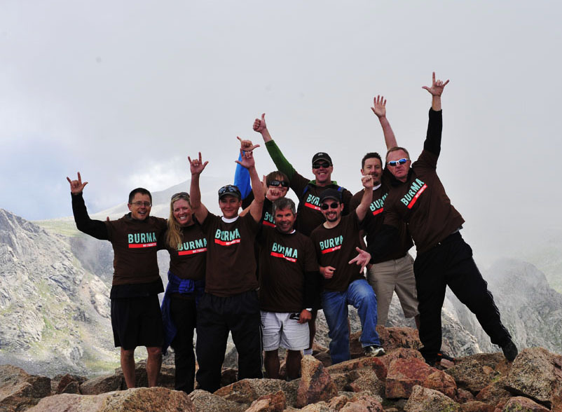 If your life seems like there are no challenges in it, then move. By that I mean, find something that challenges you, like a new mountain peak. (Steve with a bunch of crazy people who climbed for Burma last summer. It was a blast. And a challenge!)