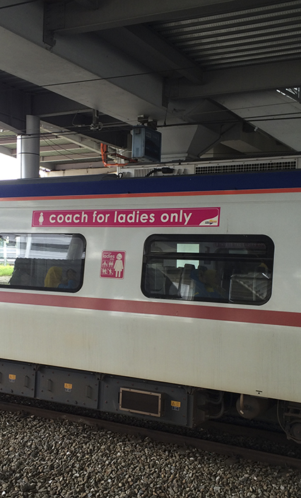 Did you know that in Malaysia they have train cars for ladies only! Cool. Steve really wanted to go inside.