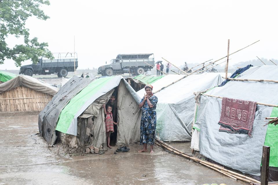 Rohingya in camp